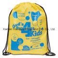 Promocional personalizado de poliéster nylon cordón Cinch up mochila