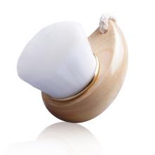 Atacado de cosméticos rosto escova de limpeza de higiene intima escova Facial com punho de madeira