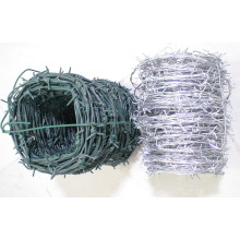 Alambre de púas revestido de PVC / galvanizado eléctrico