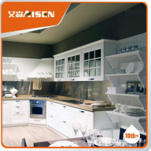 Excellent white pvc kitchen cabinets