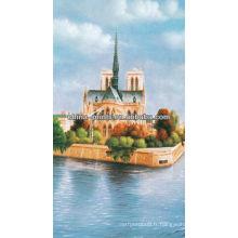 Peinture à l'huile de toile de paysage naturel