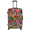 Multi-color printing ABS&PC rolling luggage