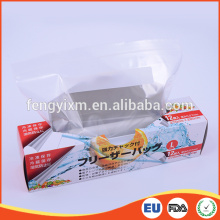 Moisture proof refrigerate used soft resealable food ziplock plastic bag