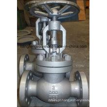 Válvula de globo com extremidade de flange de aço carbono
