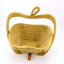 Antique Boutique Gift Cesta de frutas de madera