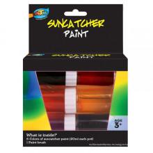 Suministro en fábrica de pintura Suncatcher no tóxica de 6 * 20ml