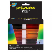 Factory supplying Non-toxic 6*20ml Suncatcher Paint