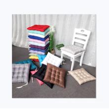 Hot sale solid color linen nail pin futon cushion sofa office car chair cushions
