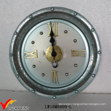 Metal Large Round Antique French Vintage Wall Clock