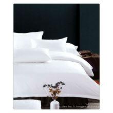 200-400T Feuilles en coton égyptien en blanc pur pour hôtels et hôpitaux