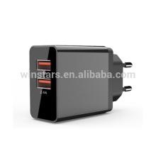 USB 2 Port mobile phone Charging Station,CE,FCC,ROHS