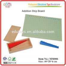 Montessori material Addition Strip Board