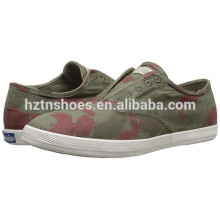 Cheap Ladies Fashion Footwear Pictures of Women Camouflage Canvas Casual Shoes
