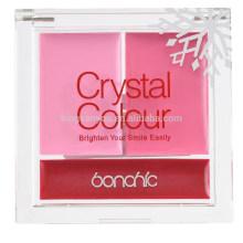 moda rojo rosa natural duradera blush crema paleta de lápiz labial mate