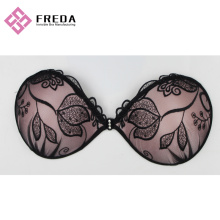 Leaves Lace Stick On Strapless Bras