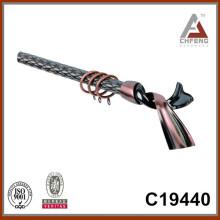 C19440 accesorios de la barra de la cortina de la decoración casera, finials de la barra de la cortina de la suposición, fábrica de la barra de la cortina