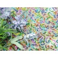 POLY MESH WITH 3MM MTLIC COLOR SEQUIN EMBD 50/52""