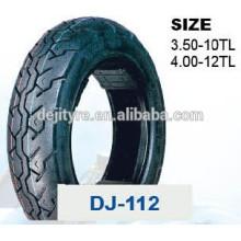 vente en gros de pneus tubeless moto de haute qualité 4,00-12