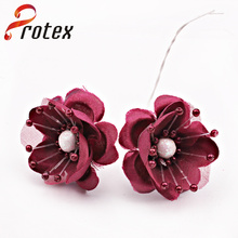 Hot Sale Beautiful Wine Color Artificial Flower for Decoration