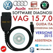 C VAG-O-M 15.7.1 16,8 más reciente diagnóstico Cable Hex puede Cable del USB para VW Audi Skoda asiento Inglés Alemania 15.7.0
