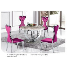 Professional Round Dining Table with Marble/Glass (T084)