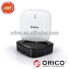 ORICO 4 puertos USB3.0 Super Speed espejo HUB, hub de 4 puertos, hub USB3.0