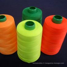 40s / 2/3 - Fil de couture teint à 100% en polyester filé