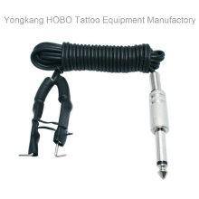 Alta calidad de silicona tatuaje fuente de alimentación cable de clip suave