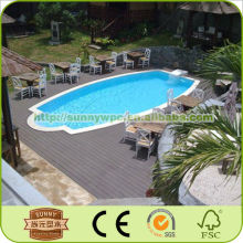 Hot Sale Wood Plastic Composite Decking China Supplier For Swimming Pool,