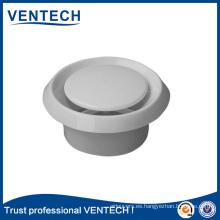 Válvula de disco de plástico con difusor de techo circular de color blanco