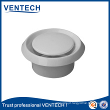 Válvula De Disco De Plástico De Cor Branca Circular Difusor De Teto