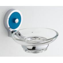Ванная комната настенный держатель мыла цинка с стеклянную посуду (JN10239)