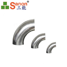 90 Degree Galvanizing 304 Stainless Steel Elbow For Tube Fitiings