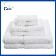 Pure Cotton Yarn Hotel Handtuch Sets (QHD7794)