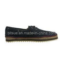 Zapatos de cuero ocasionales del estilo de la naturaleza del barco