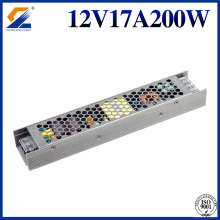 12V 200W Slim Power Supply Untuk Strip LED