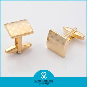 Abotoadura de chapeamento de ouro moda (SH-BC0024)