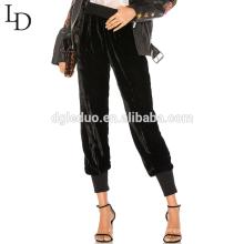 Pantalones de chándal de mujer de cintura alta de alta calidad al aire libre de la señora pantalones casuales