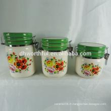 Nouveaux articles de cuisine, récipients en céramique avec couvercles scellés pour le stockage des aliments