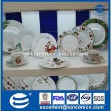 Vajilla de la porcelana de la serie de la Navidad 20pcs / 30pcs en caja de regalo