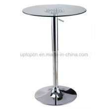 Cocktail Glass High Bar Table with Lift Chrome Base (SP-BT641)