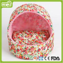 Lit de chien fait à la main, lit de maison de chien d'intérieur (HN-pH557)