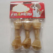 "Dog Chew Natural Rawhide Knot Bone (4""-4.5"")"