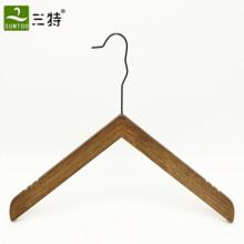 Colgador de ropa de madera angular personalizado de lujo
