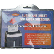 shredder lubricant sachet