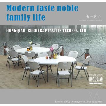 China Wholesale 5ft 60inch Round Plastic Folding mesa de jantar para eventos, casamento, banquete, festa, churrasco, Camping, Picnic, Catering