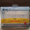 OEM cor impressa documento A4 com saco de plástico pasta arquivo com o botão Snap