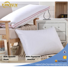 Luxury Pillow 70%Duck Feather 30%Down Pillow Inner Cotton Pillow Case with Piping