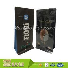 Durable Impreso Personalizado Acabado Brillante de Unidireccional Válvula Café Cafe Bolsas de Embalaje de Café Colombiano