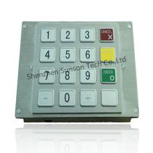Clavier de chiffrement de kiosque de paiement de petite taille d'acier inoxydable